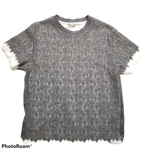 Moncler Giubbotto Sample Small Gray Lace Tshirt